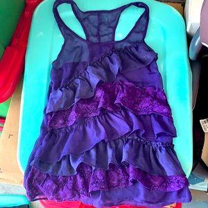 Jessica Simpson size small purple ruffle top